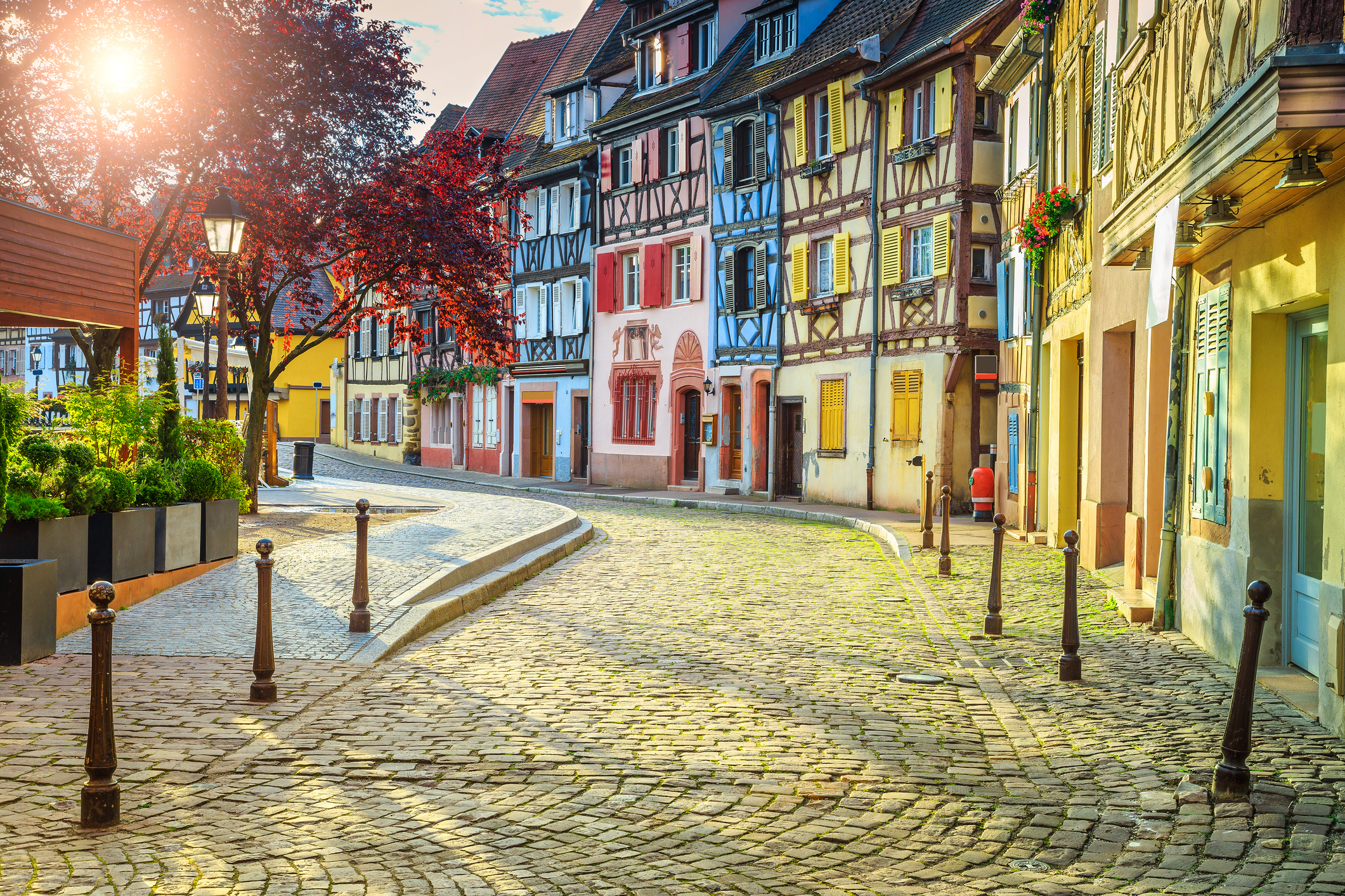 Traditional French Architecture: half-timbered houses